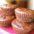 Muffins au chocolat sans matière grasse