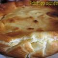 Gateau léger au fromage blanc de cléa aux pommes/bananes