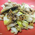 Salade d'endives au maquereau fume et au poivre
