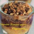 crumble pomme-poire