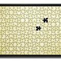 Puzzle or - manque 2 p. sur fond noir 2010 - 25 ( 40 x 53 cm )