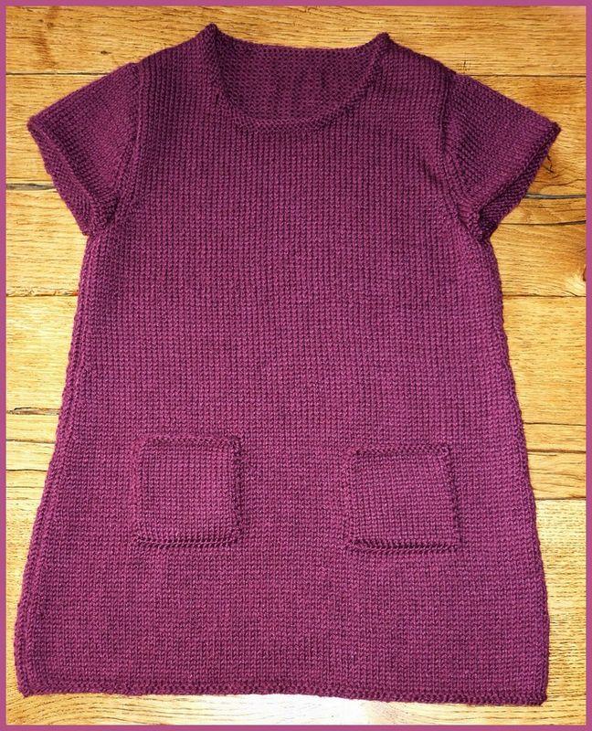 modele tunique tricot fille