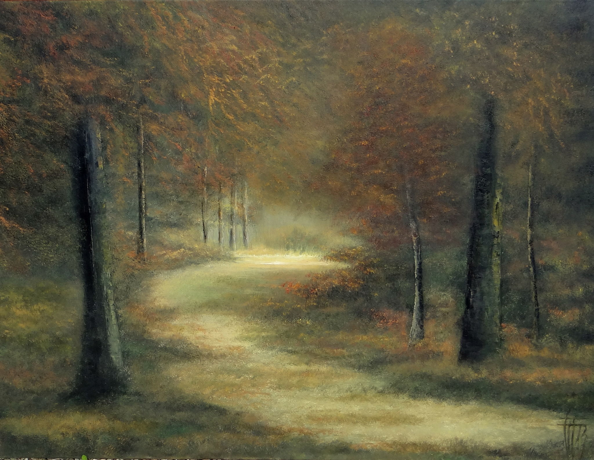 Fall time - Huile sur toile