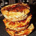 Muffins sales au steak hache
