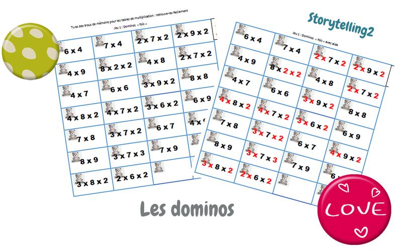 dominos jeu de calcul multiplication