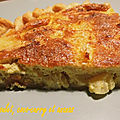 Quiche au poulet, coco-<b>curry</b> et ananas