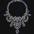 <b>Sapphire</b> <b>and</b> <b>diamond</b> <b>necklace</b>, late 19th century