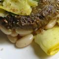 Haricot michelet, aubergine, courgette et... confit !