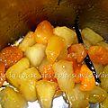Compote de pomme et abricot sec parfumée à la vanille de madagascar