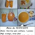 Mon menu du 10/03/2014