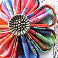 Grandes <b>broches</b> japonaises kanzashi textile