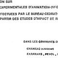 Des études d'impact expérimentales avec information du public en Isère et dans l'Ardèche 1981-1982