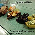 Variation de chevreuil en 3 cuissons