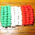 Drapeau italien en perles