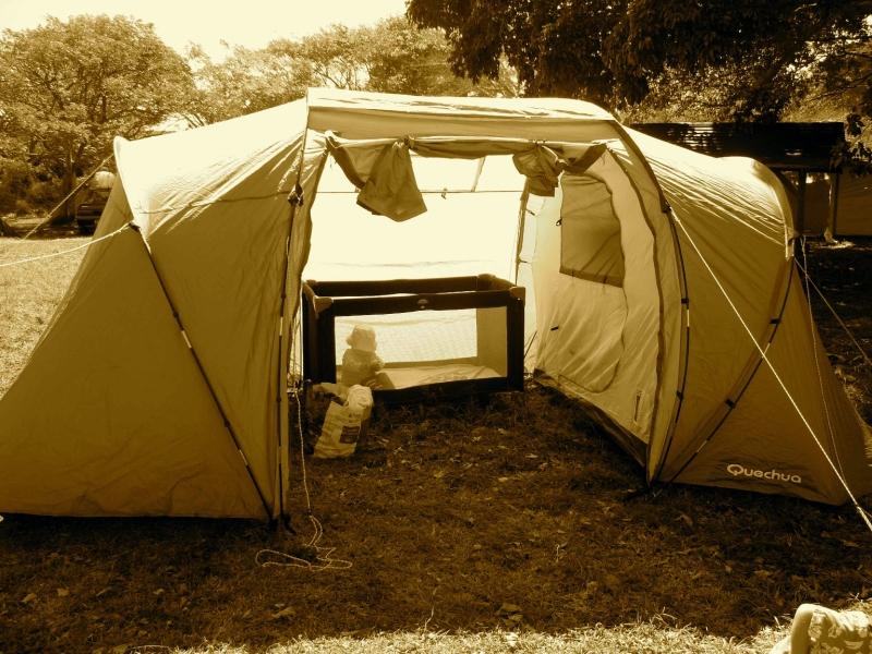 Le grand luxe: trois chambres dans notre tente