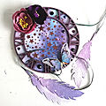 Mixed Media dream catcher for Simon Says Stamp Monday <b>Challenge</b> and Bleeding Art <b>challenge</b>