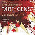 Art-gens 2018... week-end après pâques ! détails...