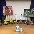 Toujours chez cultura ... jusqu'a fin mars...8 guitares sculptees by hazoo!