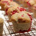 Muffins aux framboises et à la noix de coco, sans gluten et sans lactose