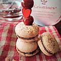 Macaron Chocolat et Griottines® de Fougerolles