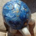 tortue bleue en mokume gane
