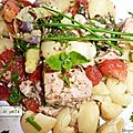 Salade de pommes de terre truffée.