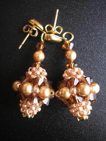 Boucles d´oreilles mini virginias light gold et smoked topaz.