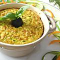 Gratin de quinoa blanc, courgettes et carottes
