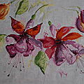 Fushia in watercolor...de lanarte,
