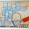 Vintage ... service à apéritif lulli * vereco