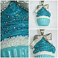 cup cake bleu