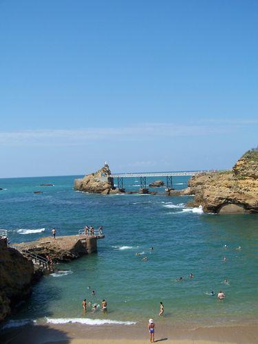 Biarritz-plage du port Vieux