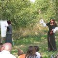 Marie conteuse du chateau et Florence Magnin en dessin direct