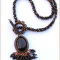 Ryolite necklace black onyx