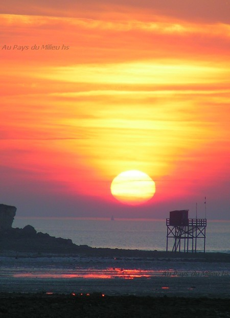 Angoulins sur Mer soleil couchant