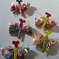 Sachets de bonbons papillons pour l'école