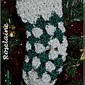 Une mini chaussette de noël