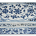 A rare Ming porcelain pen box, Xuande reign, China, 1426-1435 AD