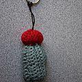 Mini-cactus en porte-clef !