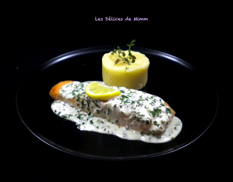 Pavé de saumon à la crème de ciboulette 4