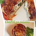 Croque courgette tomate chèvre
