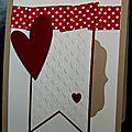 11. caramel, vanille et rouge - coeurs et biais plissé