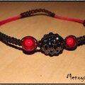 Shamballa noir & rouge