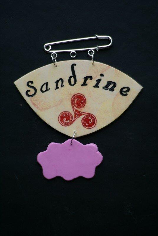 badge Sandrine/Triskelle