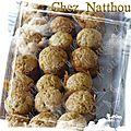 Mini muffins praliné/chocolat