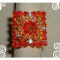 Perles : orange & rouge
