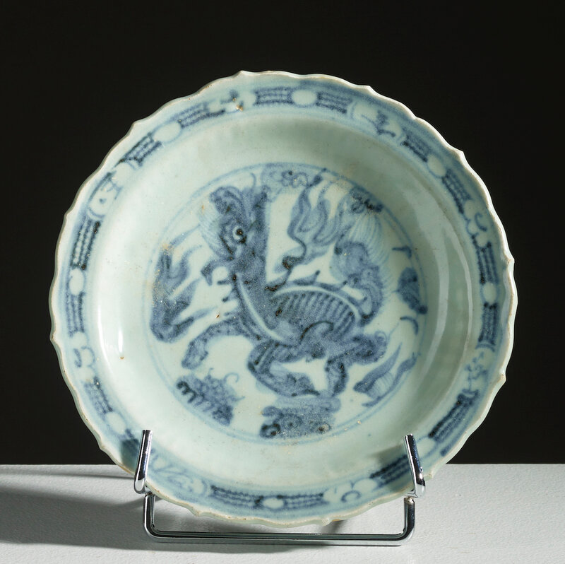 Assiette, Chine, dynastie Ming, Hongzhi-Zhengde, 15°-16° siécle