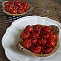Pâte brisée pimentée au gochujang pour tartelette de tomates cerise au tofu