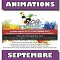 - animations et événements de septembre dans la vallée du garon
