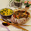 Papillote de saumon aux petits légumes épicés.
